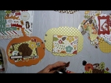 """МК альбом-тыква """"Autumn"""" ⁄ Echo Park paper⁄ """"Fall in the air""""⁄""""Autumn Gold Foil Dots"""""""