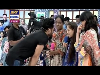 Praised by blind girl about fahad mustafa ??