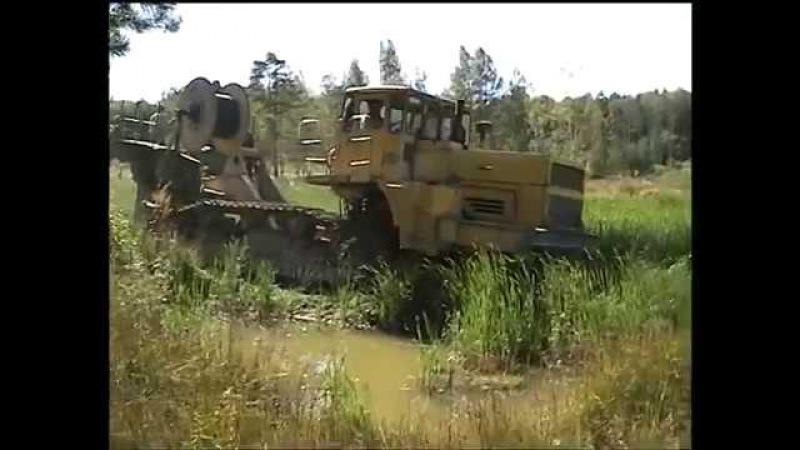 К700 на троссу у ЧТЗ через болото