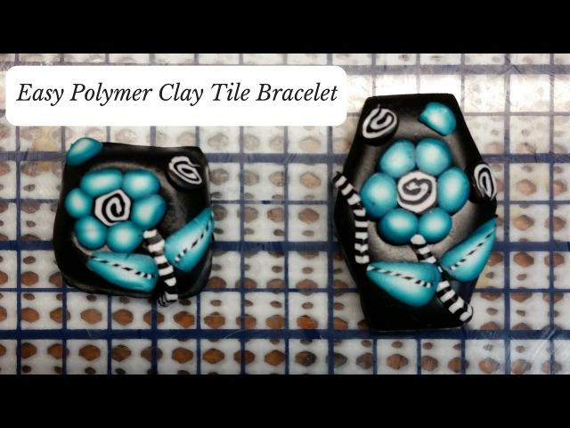 Easy Polymer Clay Cane Bracelet Tutorial