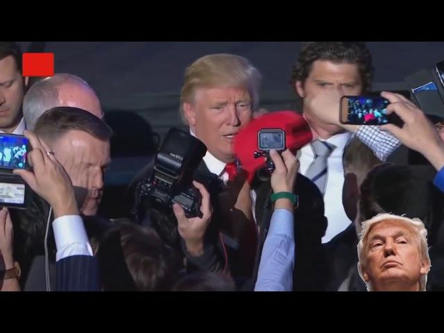 Охранник Дональда Трампа впечатляет своей сконцентрированостью. Агент секретн ...