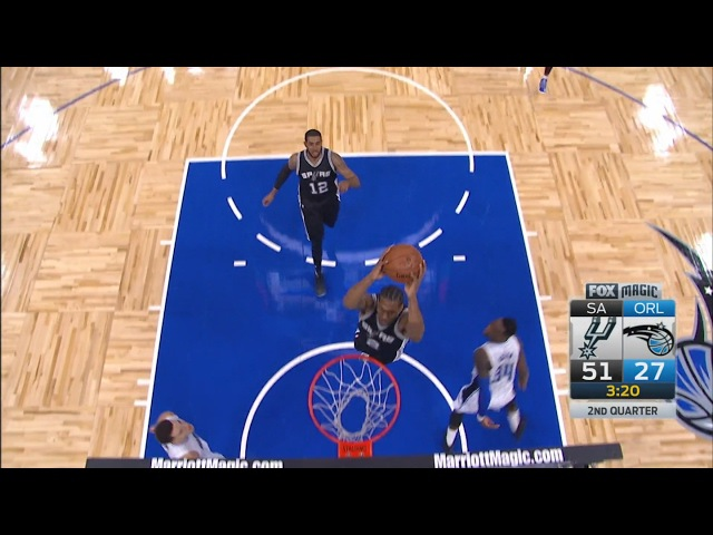 Manu Ginobili's Amazing Pass to Kawhi Leonard Spurs vs Magic Feb 15 2017 2016 17 NBA Season