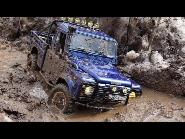 Весенняя распутица Land Rover defender 90 WildBrit, defender 110 HCPU spring mudding