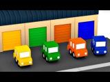 CARROS animados. ✿ Vamos plantar as FLORES! 4 Carros coloridos. Desenhos animados para crianças. Br