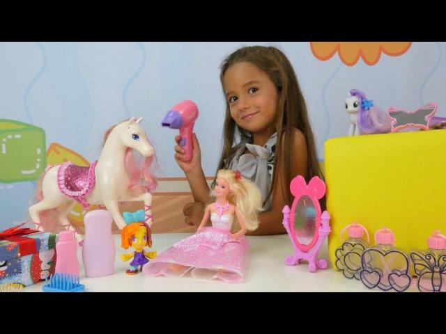 Türkçe izle - kız videoları/oyunları. Barbie kuklası ve çocuk oyuncakları Ceylin'in kuaför salonunda