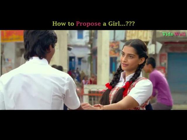 How to Propose a Girl...? || Humka Ishaq Huwa Hai Yaro || Funny Clip From Movie Raanjhanaa - Video Dailymotion