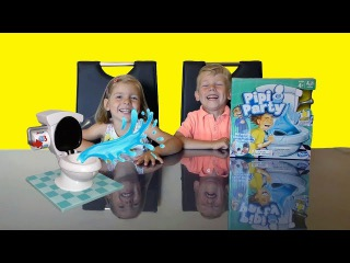 Toilet Trouble Challenge Entertainment Video for Kids with Pipi Party Game Kids Toys