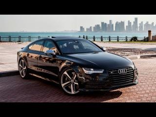 2017 Audi S7 (450hp, V8 4.0TT) black on black - launch, walkaround, interior, exterior