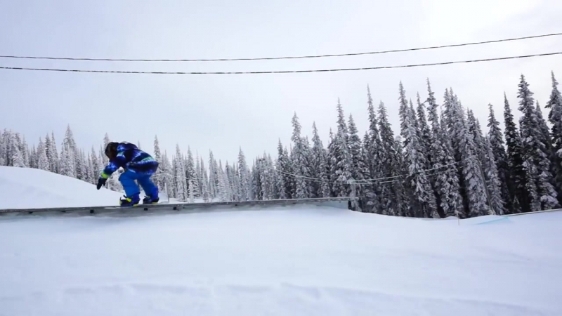 9yo Neko Reimer rips up Big White TELUS Park