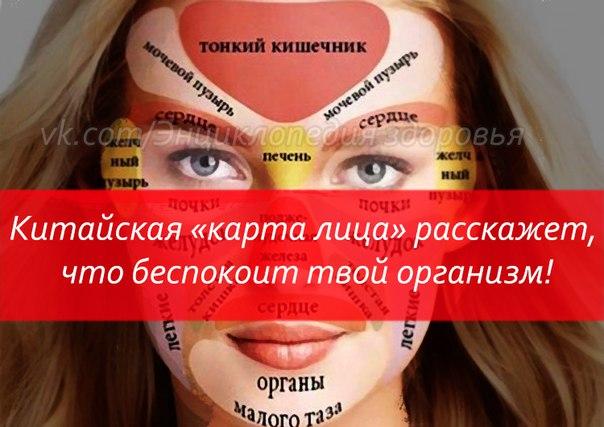 """КИТАЙСКАЯ """"КАРТА ЛИЦА"""" РАССКАЖЕТ О ПРОБЛЕМАХ СО ЗДОРОВЬЕМ"""