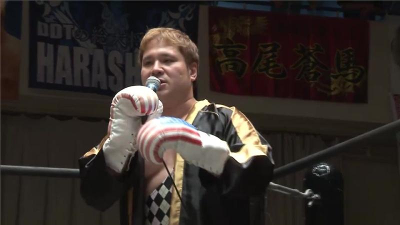 Rocky Kawamura, Saki Akai, Antonio Honda vs. Toru Owashi, Hirata Collection A.T., Soma Takao (DDT - KING OF DDT 2017)