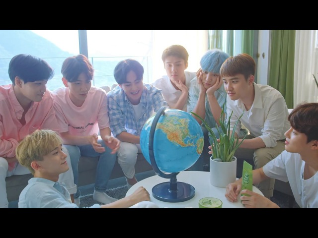 """[네이처리퍼블릭 X EXO] """"우리 집에 #EXO가 왔다?!"""" 여름피부엔 알로에 수딩젤♥"""