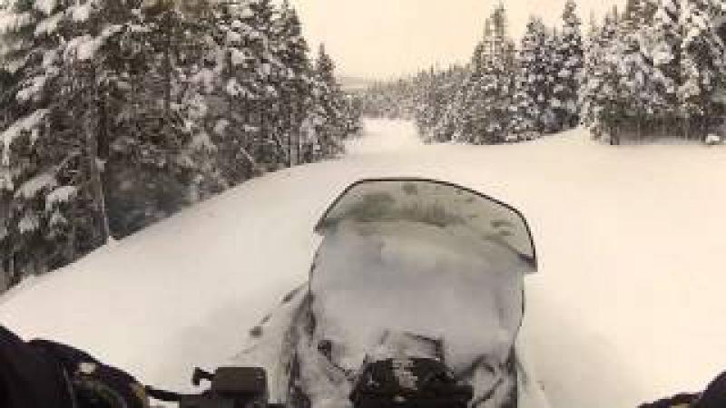 Ski-Doo Tundra Xtreme Breaking Trail in Ultra Deep
