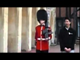The moment a Queen's Guard soldier lost it and drew his gun at annoying tourist