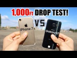 iPhone 7 vs Samsung Galaxy S7 1000 FT Drop Test!! Which one survived