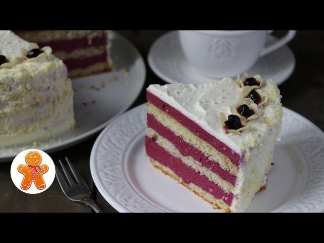 Торт-Мусс Ягодная Свежесть с Черной Смородиной ✧ Black Currant Mousse Cake (English Subtitles)