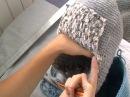 шапка зимняя крючком ( шапка чулок). Часть 2