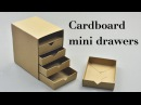 DIY Cardboard Mini Drawers Tutorial