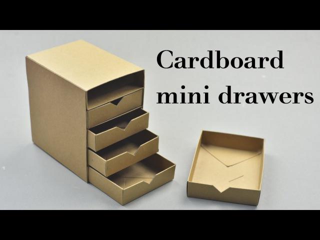 DIY Cardboard Mini Drawers Tutorial