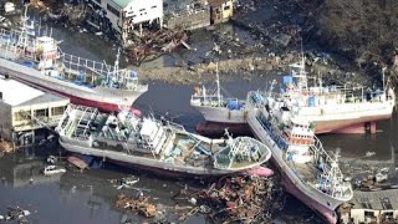 Самое ужасное наводнение в 21 Веке цунами в Японии. The worst flood in the 21st Century