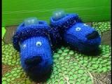 Вязание спицами тапочки-собачки для ребенка трех лет