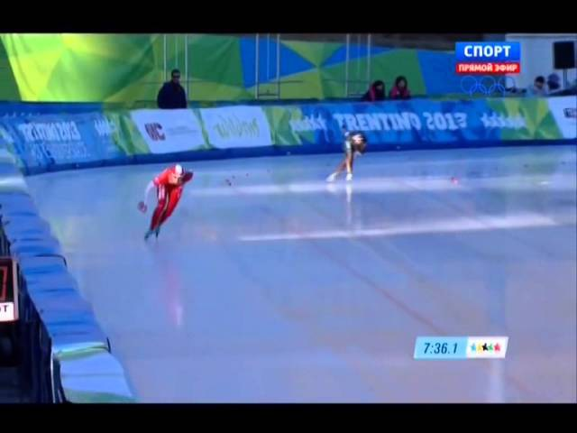 XXVI Зимняя Универсиада 2013 Трентино Италия Конькобежный спорт Женщины 5000 м 576р Rutracker org