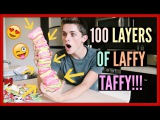 100 LAYERS OF LAFFY TAFFY!! (CHALLENGE)