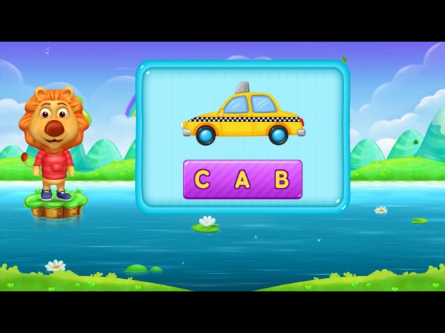 Learning Words in English with Lion | Vocabulary for Kids by BooBoo