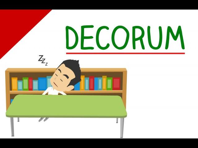 Learn English Words - Decorum
