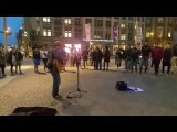 Amazing street singer  U2 cover  U2 with or without you