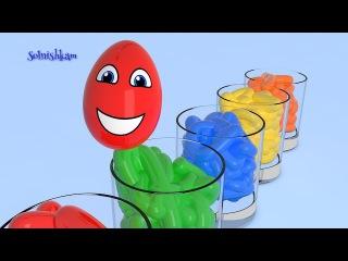 Яйца с сюрпризом и Краски Учим цвета Surprise Eggs Развивающий мультик для детей