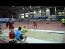 В длину прыгает Николай Клевакин на матчевой встрече в Тюмени 04.12.2016 г.