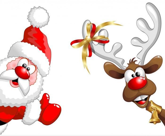 Дед мороз смешной рисунок, поздравительных