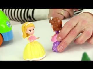 София Прекрасная лепим из пластилина! Логопедические занятия для детей. Видео про принцесс кукольный театр
