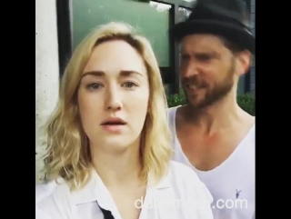 Ashley Jonson and Troy Baker