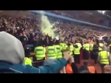 Big game in the West Midlands today - Wolves v Villa Wolves fans at Aston Villa after Costa's penalty