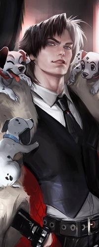 Красивый аниме парень арт