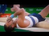 ВИДЕО Французский гимнаст сломал ногу (получил двойной перелом голени) на Олимпи_HD