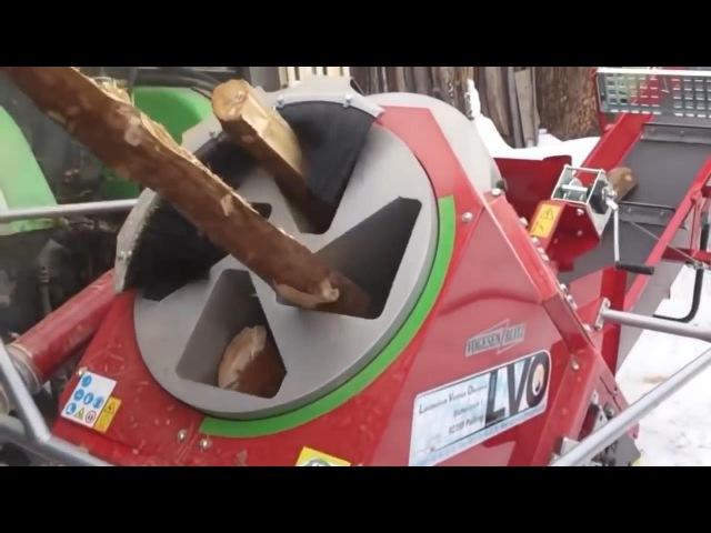 Как немцы на зиму дрова пилили и при этом даже не вспотели