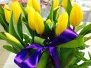 Корзина Цветов из 15 тюльпанов