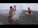 Купание в проруби, зимой. А вам слабо?-)) Swimming in the ice-hole in winter. And you weak? -))
