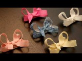 How to make infantbaby hair bows that stay in the hair (velcro bow tutorial)