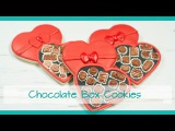Chocolate Box Cookies for Valentine's Day