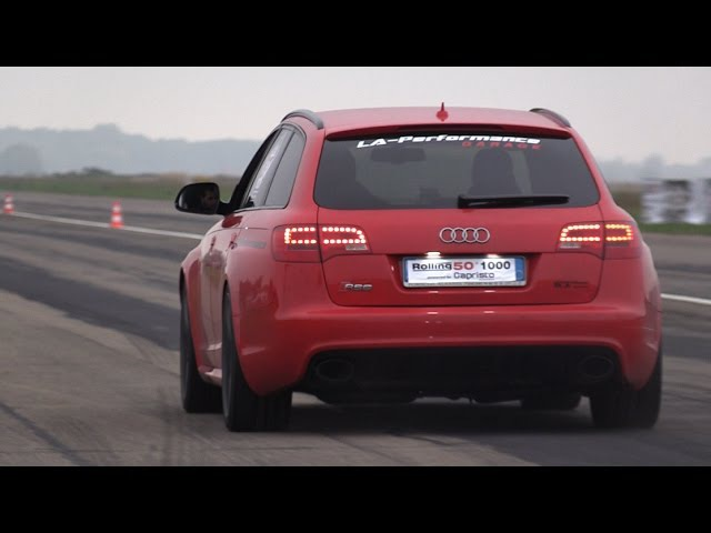 975HP Audi RS6 C6 LA-Performance - FAST Accelerations!