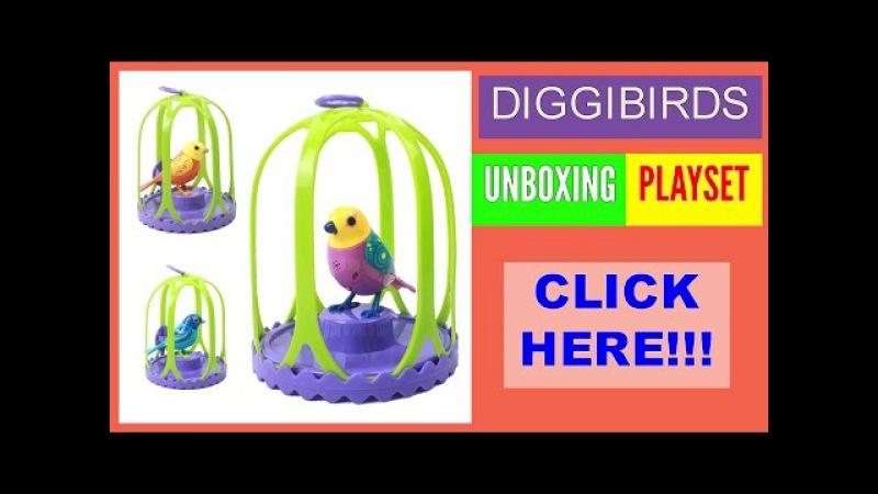 Playset DigiBirds Unboxing Toys Review Обзор и распаковка игрушки ДиггиБердс