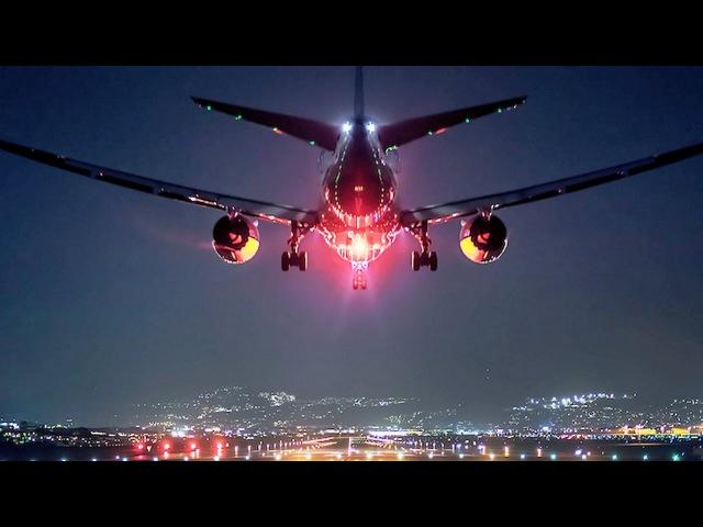 Самые красивые полеты и посадки самолетов. The most beautiful flights and landing planes.