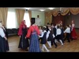 Фрагмент линейного хоровода (проводит Аринина Н.П. -руководитель народного коллектива фольклорного ансамбля