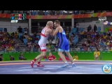 РИО-2016 греко-римская борьба 75 кг 1_4 финала Марк Мадсен (Дания) - Виктор Немеш (Сербия)