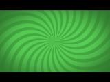 ФУТАЖ - Радиальные лучи (зеленый)