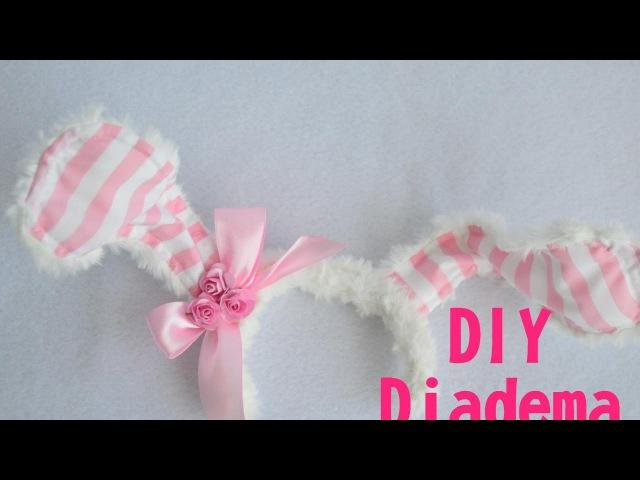 DIY Como hacer una Diadema conejita